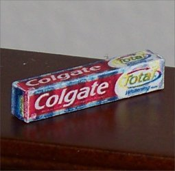 Dollhouse Miniature Grocery Colgate Toothpaste 1:12 Box