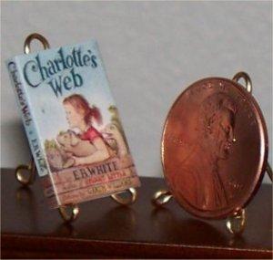 Dollhouse Miniature Book Charlotte's Web EB White 1:12