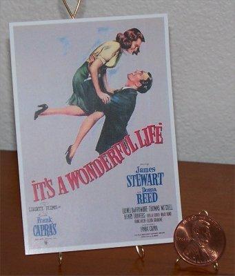Dollhouse Miniature Movie Poster It's A Wonderful Life
