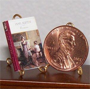 Dollhouse Miniature Book Persuasion by Jane Austen 1:12