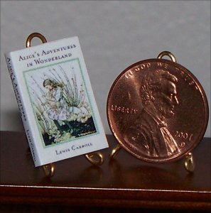 Dollhouse Miniature Alice in Wonderland Lewis Carroll
