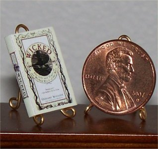 Dollhouse Miniature Book Wicked Gregory Maguire 1:12