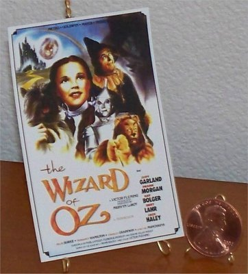 Dollhouse Miniature Movie Poster The Wizard of Oz 1:12