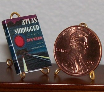 Dollhouse Miniature Book Atlas Shrugged Ayn Rand 1:12
