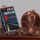 Dollhouse Miniature Book Atlas Shrugged Ayn Rand 1:12
