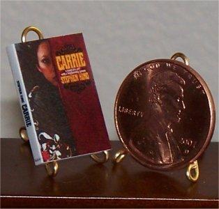 Dollhouse Miniature Book 1974 Carrie Stephen King 1:12