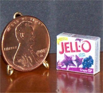 Barbie Bratz GI Joe Miniature Food Grape Jello 1:6 Box