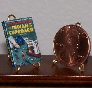 Dollhouse Miniature Book Indian in the Cupboard 1:12