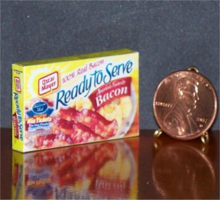 Barbie Bratz GI Joe Miniature Food Grocery Bacon 1:6