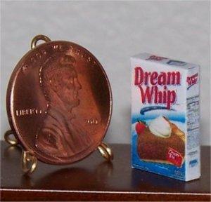 Dollhouse Miniature Dream Whip Food Grocery 1:12 Box
