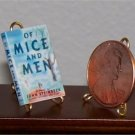 Dollhouse Miniature Book Of Mice and Men John Steinbeck