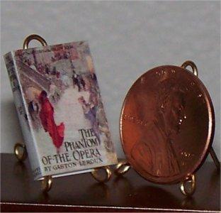 Dollhouse Miniature Phantom of the Opera Gaston Leroux