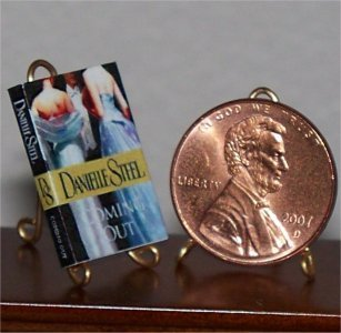 Dollhouse Miniature Book Coming Out Danielle Steel 1:12