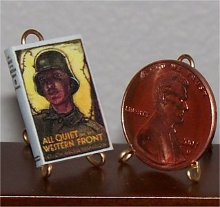Dollhouse Miniature Book All Quiet on the Western Front