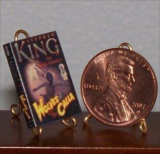 Dollhouse Miniature Book Dark Tower 5: Wolves of Calla