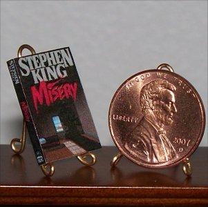 Dollhouse Miniature Book Novel Misery Stephen King 1:12