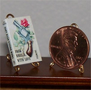 Dollhouse Miniature From Russia with Love Ian Fleming