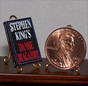 Dollhouse Miniature Book Danse Macabre by Stephen King