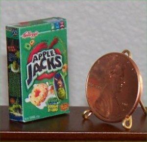 Dollhouse Miniature Food Apple Jacks Cereal Grocery