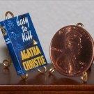 Dollhouse Miniature Book Easy to Kill Agatha Christie