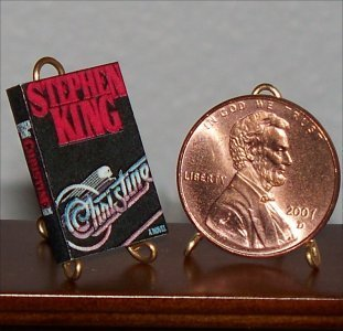 Dollhouse Miniature Book Christine by Stephen King 1:12