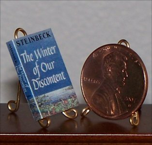 Dollhouse Miniature Winter of Our Discontent Steinbeck
