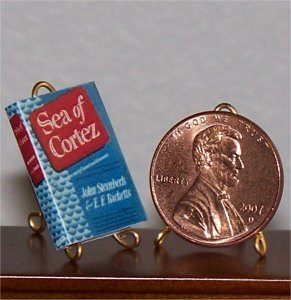 Dollhouse Miniature Book Sea of Cortez John Steinbeck