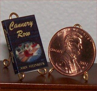 Dollhouse Miniature Book Cannery Row by John Steinbeck