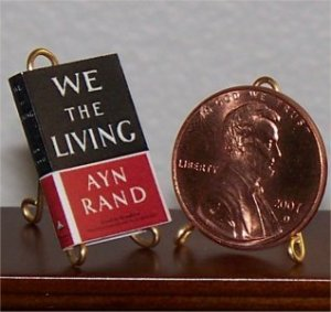 Dollhouse Miniature Book We the Living by Ayn Rand 1:12