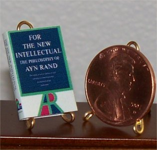Dollhouse Miniature For the New Intellectual Ayn Rand