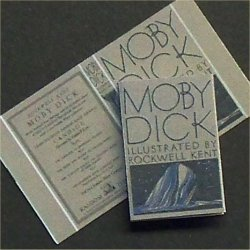 Dollhouse Miniature Book Moby Dick Herman Melville 1:12