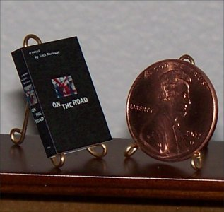 Dollhouse Miniature Book On the Road by John Kerouac US