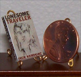 Dollhouse Miniature Book Lonsome Traveler John Kerouac