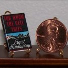 Dollhouse Miniature For Whom the Bell Tolls Hemingway