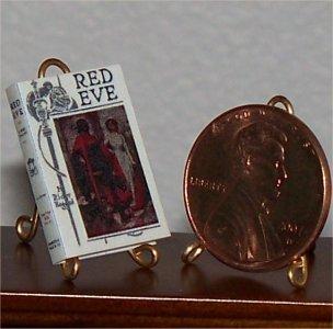 Dollhouse Miniature Book Red Eve 1912 H. Rider Haggard