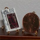 Dollhouse Miniature Book Red Eve 1912 H. Rider Haggard