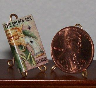 Dollhouse Miniature Man with the Golden Gun Ian Fleming