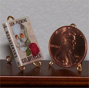 Dollhouse Miniature Goldfinger Ian Fleming James Bond
