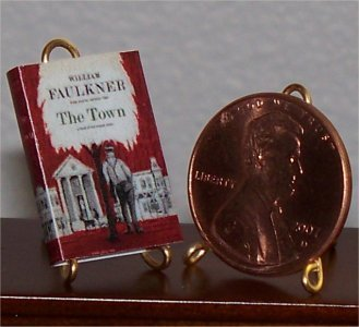 Dollhouse Miniature Book The Town William Faulkner 1:12