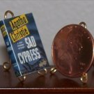 Dollhouse Miniature Book Sad Cypress by Agatha Christie