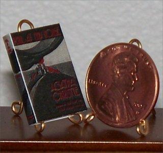 Dollhouse Miniature Peril at End House Agatha Christie