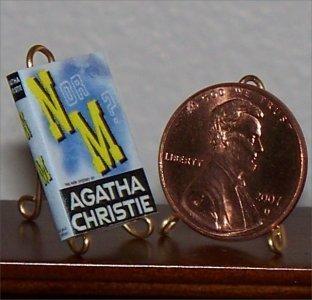 Dollhouse Miniature Book N or M? Agatha Christie 1941