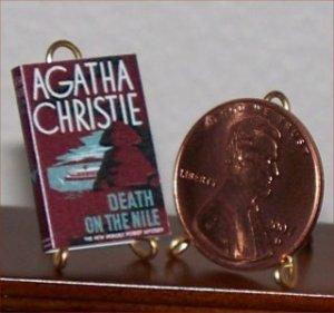 Dollhouse Miniature Death on the Nile Agatha Christie