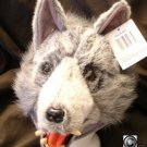 GRAY Big Bad Wolf HAT plush grey HALLOWEEN COSTUME mask ski cap little red riding hood animal head