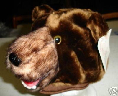 BROWN BEAR hat ball nfl ski scouts CUB Bears cubs PLUSH grizzlies montana halloween costume