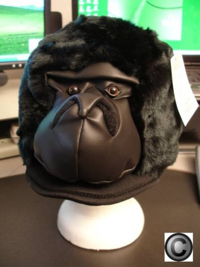 BLACK GORILLA HAT APE king kong play Hallowen Costume Mask on Head