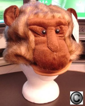 MONKEY HAT mascot head mask animal HALLOWEEN COSTUME babboon ape