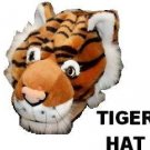 TIGER HAT adult Plush bengal costume animal cap QUALITY cat lover Mascot Parades