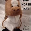 deLux Knit HORSE HAT Adult COSTUME Beanie Cap animal cap Colts Stallions PonyTail