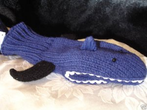 SHARK MITTENS knit ADULT puppet Jaws blue puppet LINED TEETH mens womens fin delux Halloween Costume
